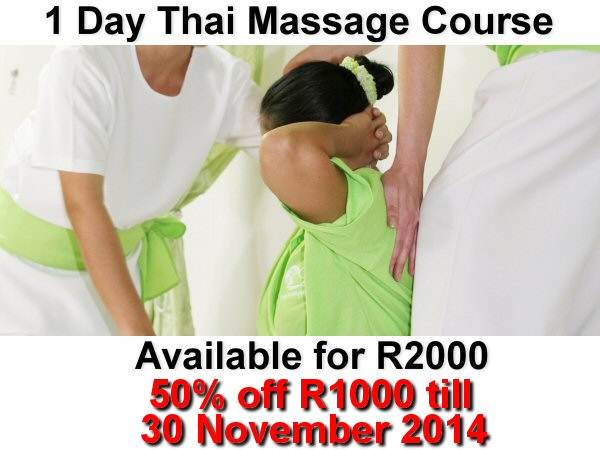R1000 off1 day thai massage course till end November